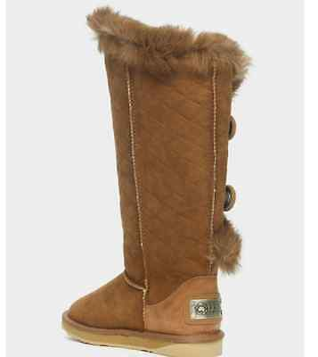 UGG Australia Quilted Leather Classic Tall Boots 9