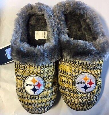 17de3d992fae ... Pittsburgh Steelers Slippers Logo NEW Womens Slide House shoes! Peak  Slide 2