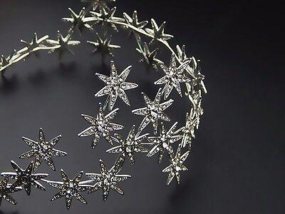 Jewelry Crystal Stars Chain Headband Wedding Prom Crown Tiara Hair Accessory