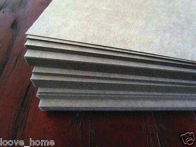 7x A4 Gray 1250gsm Cardboard Chipboard Boxboard 2mm Recycled Card Packaging Boar