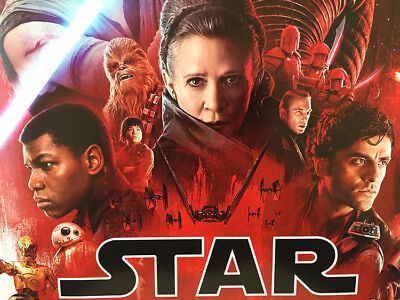 STAR WARS THE LAST JEDI MOVIE POSTER DS ORIGINAL INTL FINAL 27x40 EPISODE VIII