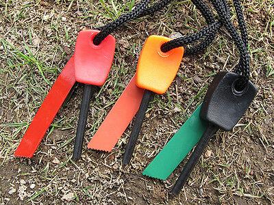 1X Magnesium Flint Stein Feuer Starter Feuerzeug überleben Ausrüstung am besten 6