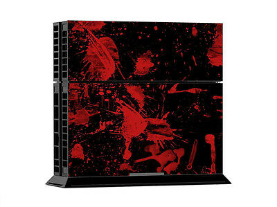 Sony Ps4 Playstation 4 Slim Skin Aufkleber Schutzfolie Set Faceplates, Decals & Stickers Black Blood Motiv