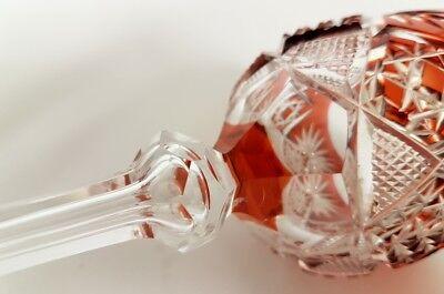 Römer Weinglas eingestochene Luftblase Handschliff Val St Lambert um 1900  AL141 9