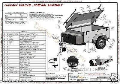 Trailer Plans - ENCLOSED LUGGAGE TRAILER - PLANS ON CD-ROM - Trailer Build 10