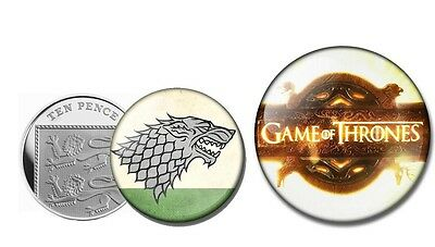 GAME OF THRONES 25MM BOLTON BADGE BUTTON PIN NEW