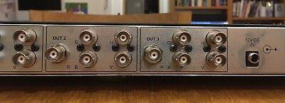 Kramer VP-123 RGBHV 1-in 3-out component / composite video distribution amp 6