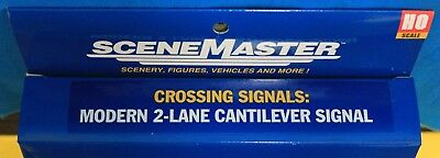 WALTHERS 949-4332 CROSSING SIGNALS HO Scale Post 60/'s Cantilever Grade Signal