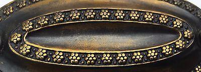 "Hepplewhite Duncan Phyfe Brass Antique Hardware Oval Drawer Pull 3 1/4"" centers 3"