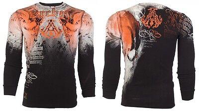 Archaic AFFLICTION Men THERMAL T-Shirt NIGHTWATCHER Skulls Biker UFC S-3XL $58 c 3