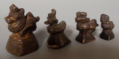 Lot 4 Chinthe & Avian Form Burma Burmese Bronze Opium Weight  ca. 19th c. 5