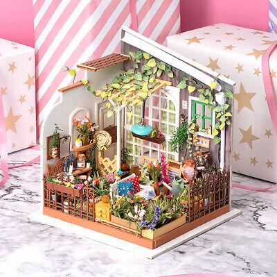 Robotime DIY Wooden Dollhouse 1:24 Miniature Garden Kits Toy for Kids Girl Adult 2