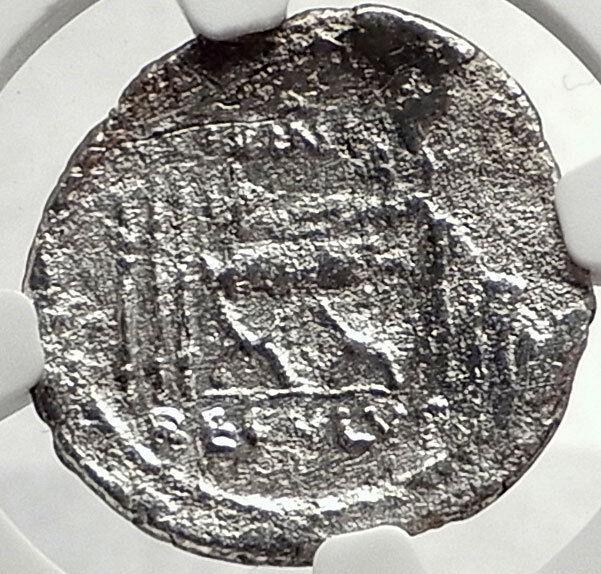 Roman Republic 42BC Praetor Livineius Regulus Praefect Silver Coin NGC i68785 2