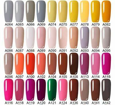 UV Nail Gel Polish Soak Off LED LEMOOC ® Colour Manicure Base Top Matte Coat 8ml 3