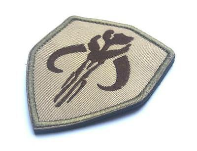 Star Wars Boba Hunter Skull Embroidered Tactical Airsoft Hook /& Loop Patch//// U3