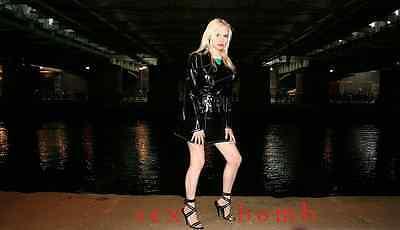 SEXY sandali domina nero lucido ZIP INTRECCIATE tacco spillo 15 da 35 a 44 GLAM! 5