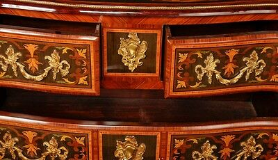 Pair French Empire Cabinets Commodes Chests on Stands Inlay 5