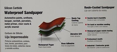 10 Sanding Sheets Silicon Carbide Waterproof Sandpaper ~ 220 Grit ~ New 4