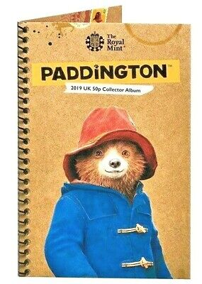New 2019 Paddington Bear At The Cathedral.tower.station . Palace 50P Coin.albums 2
