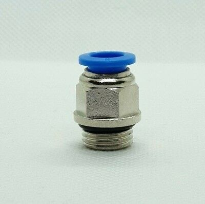 Male Stud Straight Push Fit Pneumatic Fittings for Air Hose Tube 4 - 16 mm NEW 5