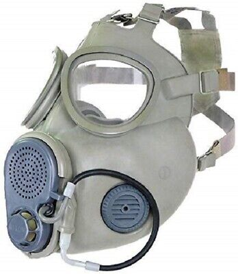 Military Czech Gas Mask M10M Hydration Straw Filters Bag Emergency Survival NBC 3