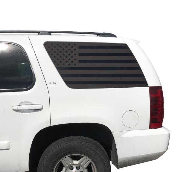 Thin Blue Line Flag Decals Fits Rear Window 2015 2018 Chevy Tahoe Gmc Yukon Ct9b