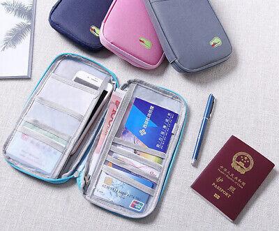 Travel Wallet Family Passport Holder Accessories Document Organizer Bag Case US 8