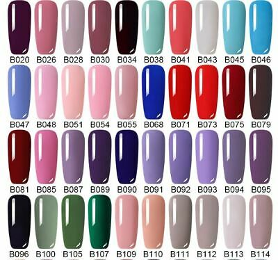 UV Nail Gel Polish Soak Off LED LEMOOC ® Colour Manicure Base Top Matte Coat 8ml 5