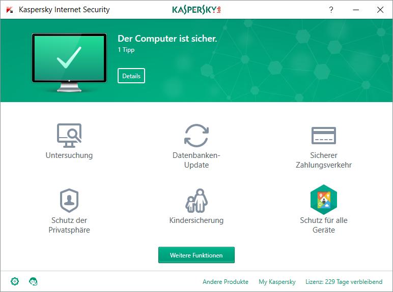 Kaspersky Internet Security 2019 (1, 2, 3, 5, 10 PC / Geräte) 1 / 2 Jahre 2