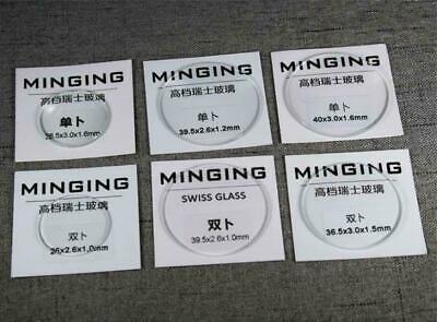 1.6mm Dick Einzel Kuppel Mineral 26-40mm Rund Swiss Qualität Uhr Kristallglas