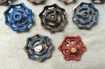 Lot Of 9 Vintage Heavy Metal Water Faucet Handles Knobs Valves Steampunk Lot#14 8