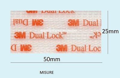 Dual lock SJ 3560 3M  adesivi 2 pezzi 25mmx50mm TELEPASS qualita' professionale+ 2