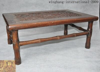 chinese Huanghuali wood Carving Dragon Classical furniture coffee table Tea desk 4