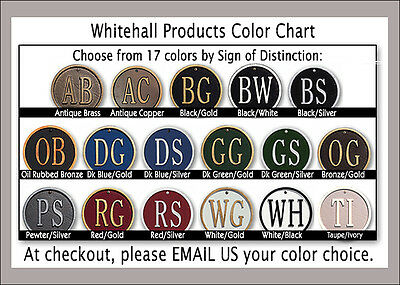 Whitehall 2 Line 2 Sided Post Address Sign Decorative Hanging Plaque 17 Colors 69 95 Picclick