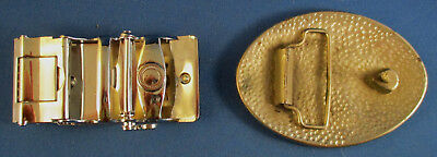 Lot of 8 Vintage Belt Buckles Wolf, Bullet, Cadillac, Eagle and more 9