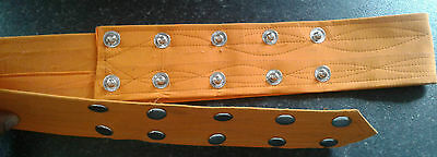 Sikh Nihang Singh Khalsa Adjustable Belt Kamarkasa No Loop Orange Waist Belt 2