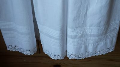 Babys Antique Long Cotton Christening Gown 3