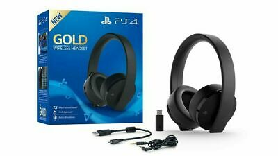 Sony Playstation 4 Wireless Stereo Headset - Gold Edition - 7.1 kabellos Schwarz 2