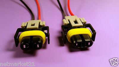 2x H9 H8 H11 universal Fog Cornering Socket//Speed Sensor Connector Pigtail wire