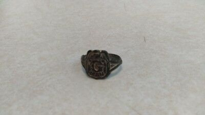 VINTAGE 1930/'s G Man Detective Badge Shaped RING