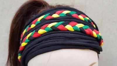 Bandeau a cheveux Headband Rasta Reggae Jamaica Jamaique