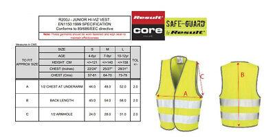 Result Core Junior Kids Hi Vis Safety Vest R200J - Childrens Polyester Waistcoat 2