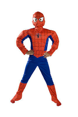Xs Small M 4 5 6 7 8 9 Spiderman Light up Muscle Costume boys kids Halloween