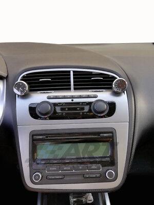 Termómetro para coche con diámetro de 4cm y base adhesiva 3M fondo negro