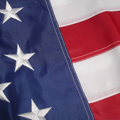 4x6 ft American Flag USA Embroidered Nylon US Stars Sewn Stripes Deluxe 2 PACK 3