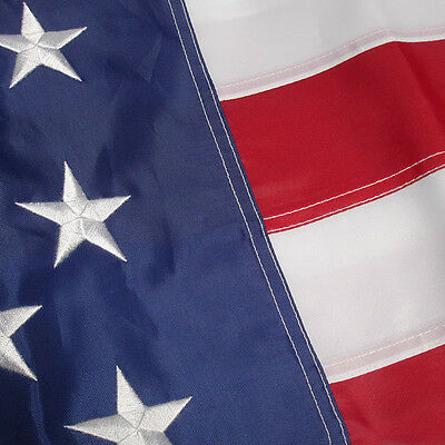 2 PACK - 3x5 Ft American USA Flag Embroidered Nylon Deluxe US Stars Sewn Stripes 2