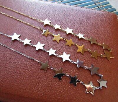 Collana con 12 stelle in acciaio 316L - Oro/Argento Moda Novità 6