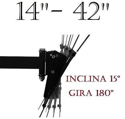 "Soporte de pared para tv LCD LED Plasma 14"" A 42"" SMART 4K Giratorio Inclinable 4"