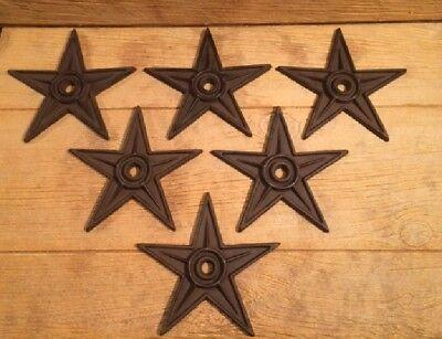 "Center Hole Texas Star Rustic Cast Iron X-Large Decor 9"" (Single) 0170-02105 7"