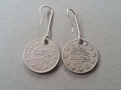 RARE Antique Silver Handmade 19th. Century from Year 1877-1293 Ottoman EARRINGS 4